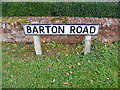 TM2650 : Barton Road sign by Adrian Cable