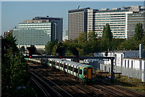 TQ3266 : Train at East Croydon by Peter Trimming