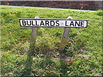 TM2649 : Bullards Lane sign by Geographer