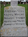 TM4295 : Names of the Fallen on Toft Monks War Memorial 3 by Helen Steed