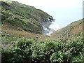 SN3759 : Part of the Ceredigion Coast Path above Traeth y Coubal by Jeremy Bolwell