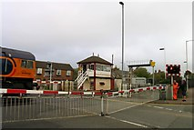 SK8508 : Level crossing at Oakham Station by Andrew Tatlow