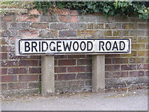 TM2649 : Bridgewood Road sign by Geographer