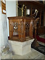 SP8619 : SS Peter & Paul, Wingrave: pulpit by Basher Eyre