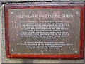 NZ8205 : Information about the station clock at Grosmont by Pauline E