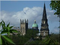 NT2473 : Churches from the King's Bridge, Johnston Terrace by kim traynor