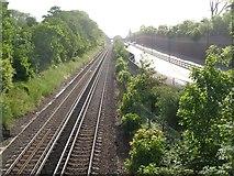 TQ4375 : Rail and road, Eltham by Derek Harper