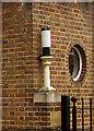 TQ3669 : Lamp mounted on brick pillar, Beckenham Post Office by Jim Osley