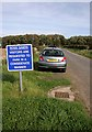 NU1336 : A parking sign at Ross Farm by Walter Baxter