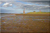 NU1240 : Low tide at Guile Point by Walter Baxter