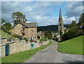 SK2469 : Village street, Edensor by Andrew Hill