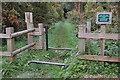 NT6723 : Horse stile, St Cuthbert's Way by Jim Barton