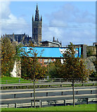 NS5566 : Glasgow University tower by Thomas Nugent