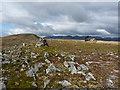 NH1817 : Small cairn on the hillside of Carn nan Coireachean by Richard Law