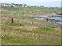 HU4014 : Southvoe Burnt Mounds by Derek Mayes