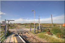 TA0623 : Barrow Haven level Crossing by JOHN BLAKESTON