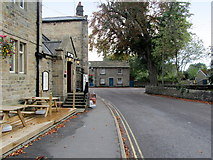 SK2572 : Outside the Devonshire Hotel, Baslow by Chris Heaton