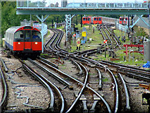 TQ1979 : The Piccadilly Line at Acton Town station by Thomas Nugent