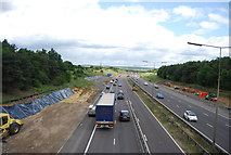TQ5885 : Widening the Motorway (M25) by N Chadwick