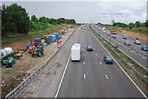 TQ5885 : Widening the M25 by N Chadwick