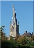 SK3871 : Chesterfield church spire by Andrew Hill