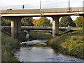 SJ8390 : River Mersey, Northenden Bridge by David Dixon