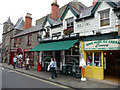 SH7877 : Eacles Building - shops on the east side of Castle Street, Conwy by Phil Champion