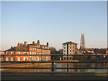 TF3242 : Houses by the canal side, Boston by Evelyn Simak