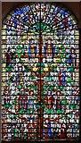 TQ3382 : St Leonard, Shoreditch High Street, Shoreditch - Stained glass window by John Salmon