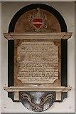 TQ3382 : St Leonard, Shoreditch High Street, Shoreditch - Wall monument by John Salmon