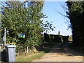 TM3344 : Footpath to Meadow Farm & Fox Hill & Entrance to Spinneyfields by Adrian Cable