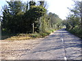 TM3342 : B1083 Woodbridge Road & the footpath to Hollesley Road by Adrian Cable