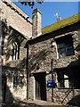 SO0428 : Entrance to Brecon cathedral by Derek Harper