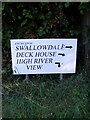 TM2844 : Sign at the start of the footpath by Geographer