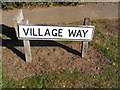 TM2744 : Village Way sign by Geographer
