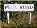 TM2744 : Mill Road sign by Geographer