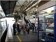 SX9193 : Exeter St. David's Railway Station Platform 4 by Roy Hughes