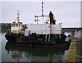 J5082 : Tug and dredger, Bangor harbour by Rossographer