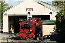 SH4758 : Engine Shed at Dinas, Gwynedd by Peter Trimming