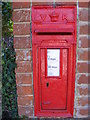 TM2842 : Hemley Victorian Postbox by Adrian Cable