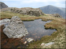 SH6358 : Small pool above Twll Du by Chris Andrews
