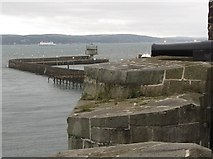 J4186 : The disused shipping control tower viewed from the eastern ramparts of the castle by Eric Jones