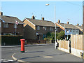 SK6534 : Ring Leas postbox ref no NG12 284 by Alan Murray-Rust