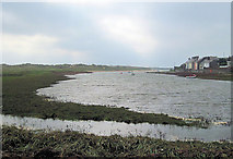 SH3568 : Afon Ffraw at Aberffraw by John Firth