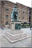 TQ3780 : West India Dock North Quay - Statue by John Salmon