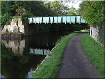 SD8431 : Burnley - footbridge near Finsley Gate by Dave Bevis