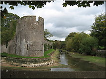 ST5545 : Moat, Bishop's Palace, Wells by Chris Andrews