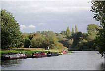 SJ6575 : The River Weaver near Anderton, Cheshire by Roger  Kidd