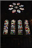 W6671 : St. Fin Barre's Cathedral (interior) - stained glass windows at  west end, Cork by P L Chadwick