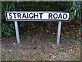 TM2242 : Straight Road sign by Geographer